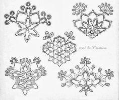Thousand ideas perNatale: Snowflakes Crochet Snowflake Pattern, Crochet Stars, Crochet Doily Patterns, Crochet Snowflakes, Thread Crochet, Crochet Doilies, Snowflake Craft, Christmas Snowflakes, Christmas Crafts