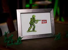 Nostalgic Green Army Man Toy with Bang Banner on by EmilyMercedes