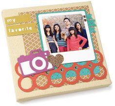 """My Favorite"" canvas made using the Cricut® Artbooking cartridge. #CTMH"