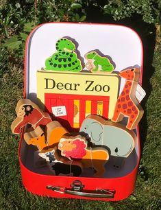 Dear Zoo Story Sack Case Zoo Activities, Nursery Activities, Preschool Literacy, Preschool Lessons, Language Activities, Toddler Preschool, Preschool Crafts, Story Sack, Treasure Basket