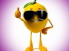 lemon 3d glasses fruit 3d digital art wallpaper