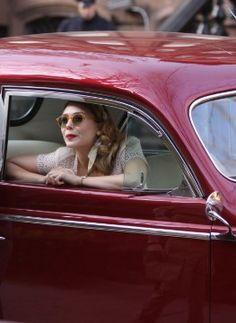 Elizabeth Olsen is Retro Chic on Set of 'Kill Your Darlings'