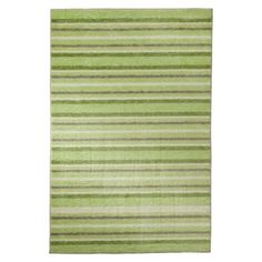 Mohawk Keylime Green Stripe Rug - reviewers say that it is actually a brighter lime green than the picture shows