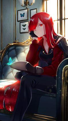 Red Hair Girl Anime, Anime Girl Cute, Beautiful Anime Girl, Kawaii Anime Girl, Anime Art Girl, Cute Anime Character, Character Art, Female Character Design, Manga Girl