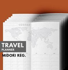 Travel Planner Printable Travel Journal Vacation di GetWellPlan