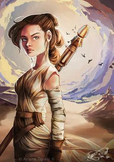 Rey - Star Wars by ArianeTorelli on DeviantArt Rey Star Wars, Star Wars Art, Star Trek, Saga, Princess Art, Princess Leia, Star Wars Characters, Anime Characters, Episode Vii