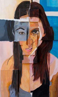 Pieces cubist portraits, david hockney, ap studio art, a level art, higher art Pop Art, Roy Lichtenstein, Ideas Collage, Artwork Ideas, Monet, Distortion Art, Cubist Portraits, Famous Art Pieces, Gcse Art Sketchbook