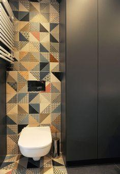 Mieszkanie Bażantowo : Minimalistyczna łazienka od musk collective design
