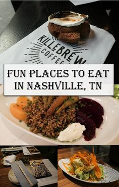 Fun Places to Eat in Nashville Travel Guide. Get dinner and coffee shop recommendation for Music City in downtown Nashville East Nashville the Gulch and Germantown. Nashville Restaurants Best, Nashville Downtown, Nashville Food, Nashville Vacation, Music City Nashville, Tennessee Vacation, Nashville Tennessee, Germantown Nashville, Franklin Tennessee