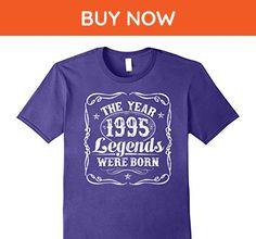 Mens 1995 The Year Legends Were Born T-Shirt 22nd Birthday Gift Large Purple - Birthday shirts (*Amazon Partner-Link)