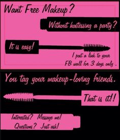 Image to attract people to get a Lash Link! #Younique #DoYouWantFreeMakeup #GetYourLashLinkToday#ClickImageAndSelectParty #Questions #EmailMe sarahandbrianyounique@gmail.com or comment below