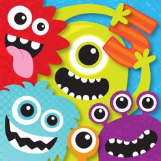 Leading Illustration & Publishing Agency based in London, New York & Marbella. Monster Party, Felt Monster, Monster Birthday Parties, Diy Birthday, Birthday Party Decorations, Birthday Cards, Monster Mash, Monster Theme Classroom, Classroom Themes