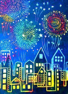 How To Make Scratch Paper Art – Happy Family Art How To Make Scratch Paper Art: make your own scratchboard paper and then your own scratch paper art. This project is a lot of fun to do! Arte Elemental, Fireworks Art, 3rd Grade Art, Scratch Art, Ecole Art, Winter Art, Art Classroom, Art Plastique, Art Activities