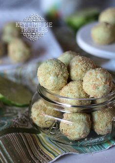 Key Lime Pie Truffles | Cookies and Cups Simple truffles made with Key Lime Frosting!