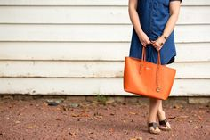 large orange tote - Peaches in a Pod | katie oblinger photography