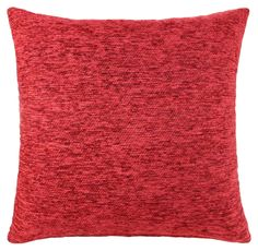 "Chenille Cushion Cover Red 18""x18"": Amazon.co.uk: Kitchen & Home"