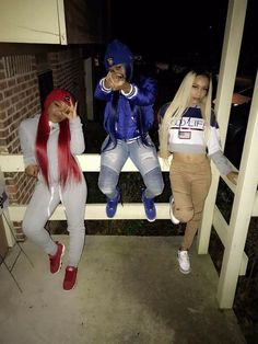 ⚠️Give me credit ‼️ Matching Outfits Best Friend, Best Friend Outfits, Bff Goals, Best Friend Goals, Squad Goals, Cute Swag Outfits, Girl Outfits, Thug Girl, Hood Girls