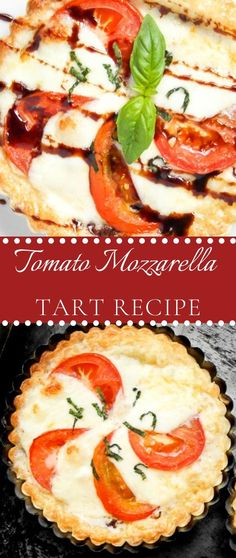 Healthy Fast Food Breakfast, Tomato Mozzarella, Tart Recipes, Food Cravings, Caprese Salad, Parmesan, Olive Oil, Garlic, Appetizers