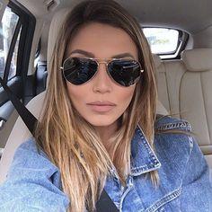 """Mariana Sampaio no Instagram: """"me sentindo nessa sexta-feira com meu aviador by @oticasriopreto  pra mim, esse é o óculos mais lindo e clássico que existe!  atualizando: o batom é Honey Love da MAC e o contorno (não é preenchimento ) é Stripdown da MAC também)"""""""