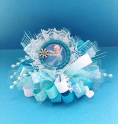 Elsa Frozen Hair Bow  Anna Elsa Olaf Hair Bow  by YayaAccessories, $9.99; Love this for my little girl!