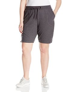 Just My Size Women's Plus-Size French Terry Bermuda Short, Charcoal Heather, 3X  Special Offer: $10.00  244 Reviews Just My Size women's plus-size French terry bermuda pocket short is cotton rich for extra softness. French terry fabric is smooth outside and brushed inside...