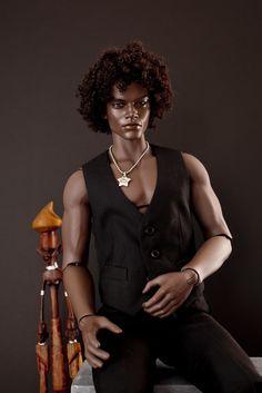 Ebony Dark, OOAK Male Fashion Doll.