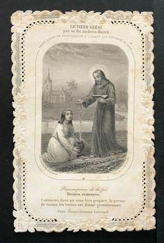 Religion Catolica, Catholic Religion, Vintage Holy Cards, Jesus Faith, God Loves You, Gods Love, Science, Antiques, Drawings