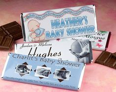 """""""Shower With Sweetness"""" Baby Shower Chocolate Bar"""
