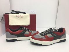 Salvatore Ferragamo Marat Sneakers Red Grey Men's Lace Up Shoes Size / Salvatore Ferragamo, Mens Designer Shoes, Red And Grey, Lace Up Shoes, Oxford, Best Deals, Sneakers, Ebay, Products
