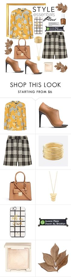 """Style essentials plus"" by felicitysparks ❤ liked on Polyvore featuring Manon Baptiste, Calvin Klein, River Island, Avenue, Michael Kors, Gorjana, Kate Spade, Jouer, Bliss Studio and Essie"