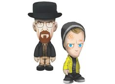 """Who wouldn't want to hug these Mezco Toyz' Walter White and Jesse Pinkman plush toys? More """"Breaking Bad"""" swag after the jump!"""