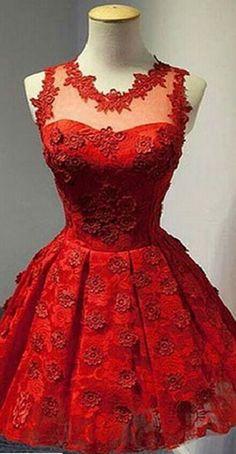 Short Red Homecoming Dress,cute Ho