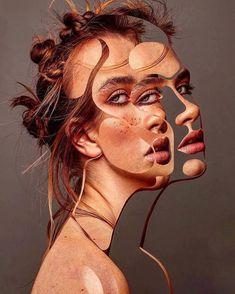 Thomke Meyer Illustration - A Level Art Sketchbook - Kunst Inspo, Art Inspo, Distortion Art, A Level Art Sketchbook, Psy Art, Identity Art, Surreal Art, Surreal Portraits, Art Design