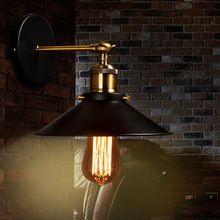Loft Vintage industrielle forgé lampe de mur de fer applique murale réglable chevet mur lampes LED E27 éclairage intérieur pour Bar Cafe(China (Mainland))