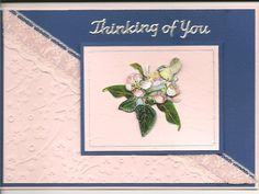 3D image on embossed card and lace