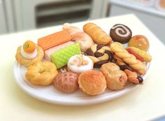 Dollhouse Miniature Pastries Cookies Mini Dolls Fake by BEADSPAGE, $8.00