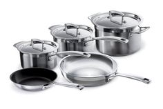 Le Creuset Tri-Ply Stainless Steel 8-Piece Cookware Set Le Creuset,http://www.amazon.com/dp/B003FVUHJK/ref=cm_sw_r_pi_dp_HCX6sb0BEVKJVHN1