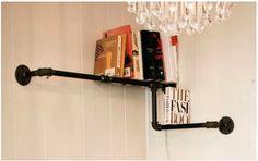 Pipe Shelf    http://dornob.com/plumbing-furniture-12-diy-fixtures-made-of-pipes-fittings/