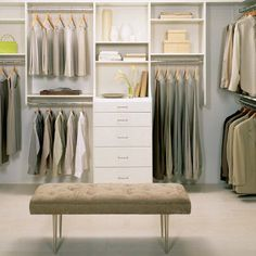 For much of the 20th century, bedroom closets were outfitted with a rod and shelves - hardly the most efficient way to organize a complete wardrobe. Unfortunately, many off-plan newly built homes still feature this same configuration, which is a shame when you think about all the available options. http://www.home-dzine.co.za/bedroom/bedroom-closet-space.htm#