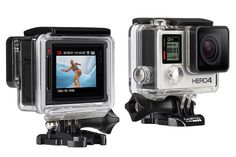 The Hero4 Silver is GoPro's first rugged go-anywhere camera to feature an LCD touch screen.