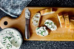 I think we should all go to a party. And we should all eat this. I know, it doesn't look like much. I am sure you've seen cheese spread on a slice of baguette before. It probably looked…