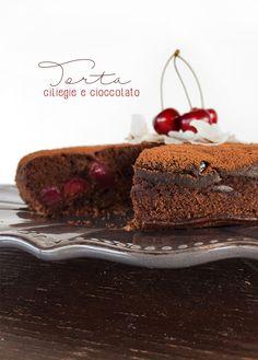 torta vegana ciliegie e cioccolato * Vegan chocolate cherry cake