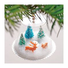 Christmas Craft: Winter Wonderland | Homemade Christmas Orna ...