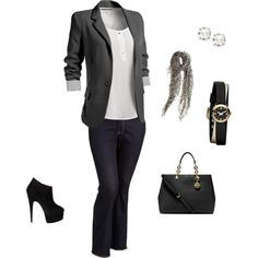 """""""Business Casual -- Day to Night"""" by rpetty on Polyvore"""