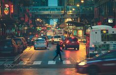 Rainy Day Rush Hour by vincentcartabiano