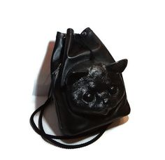 Leather Cat Purse | ... backpack cat tote bag kitty cat bag catnip leather backpack cat purse