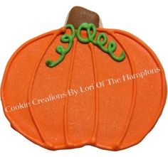 Fall Pumpkins decorated sugar cookies