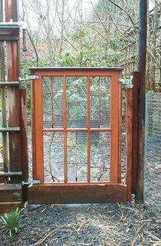 Window frame into a garden gate!
