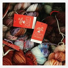 I always know when #TNNA is fast approaching as a bin of new colours always ends up in my office. Yum! #zenyarngarden #handdyed #handdyedyarn #knittersofinstagram #knitstagram #yarn #ravelry