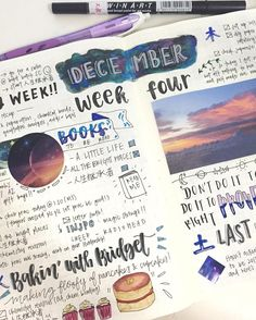 """1,319 Likes, 24 Comments - tomomi  (@tomiletters) on Instagram: """"my spread in the last week of december 2016!! i never posted this one just because i didn't quite…"""""""